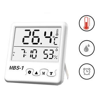 Estación meteorológica digital de pantalla grande Reloj termómetro higrómetro de habitación interior