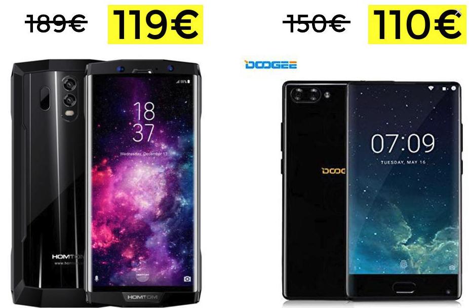 HOMTOM HT70 y Doogee Mix 6Gb - 64Gb solo 119€ y 110€