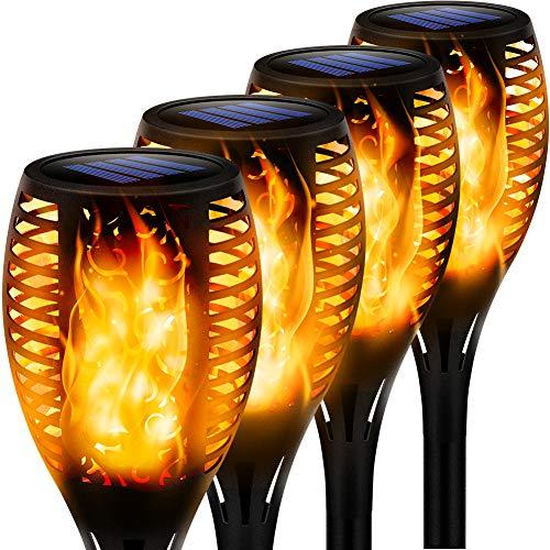 (4 pcs) Luces Solares con efecto llamas