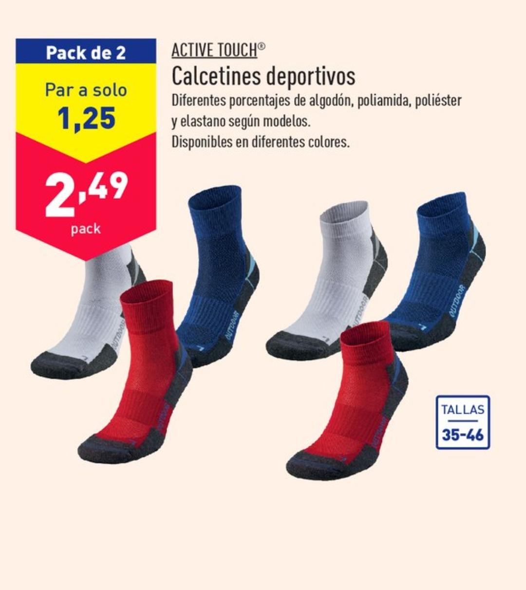 2 pares de calcetines deportivos