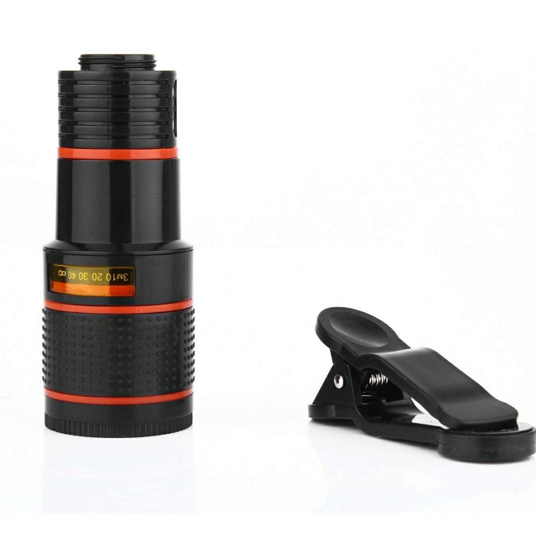 LACAB Lente de cámara para teléfono Celular, Universal, 12 x, telescopio monocular con Clip, Compatible