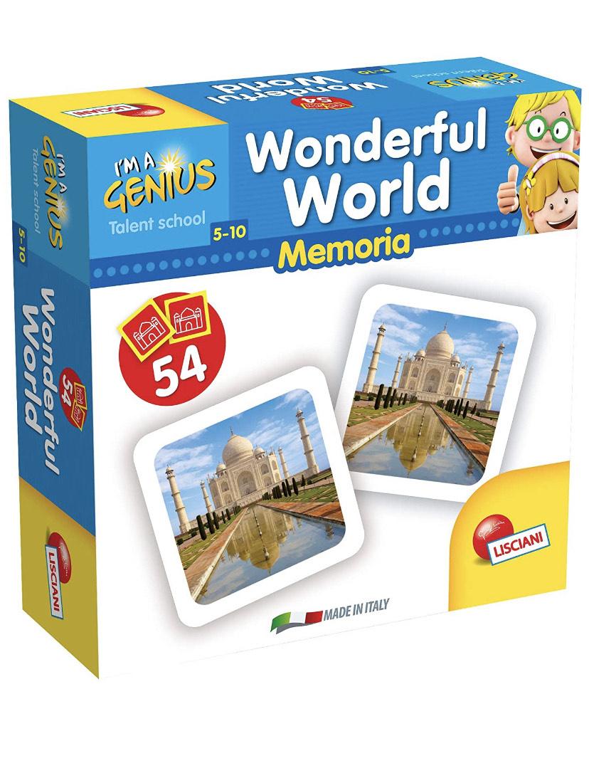 Juego de cartas de memoria de las maravillas del mundo