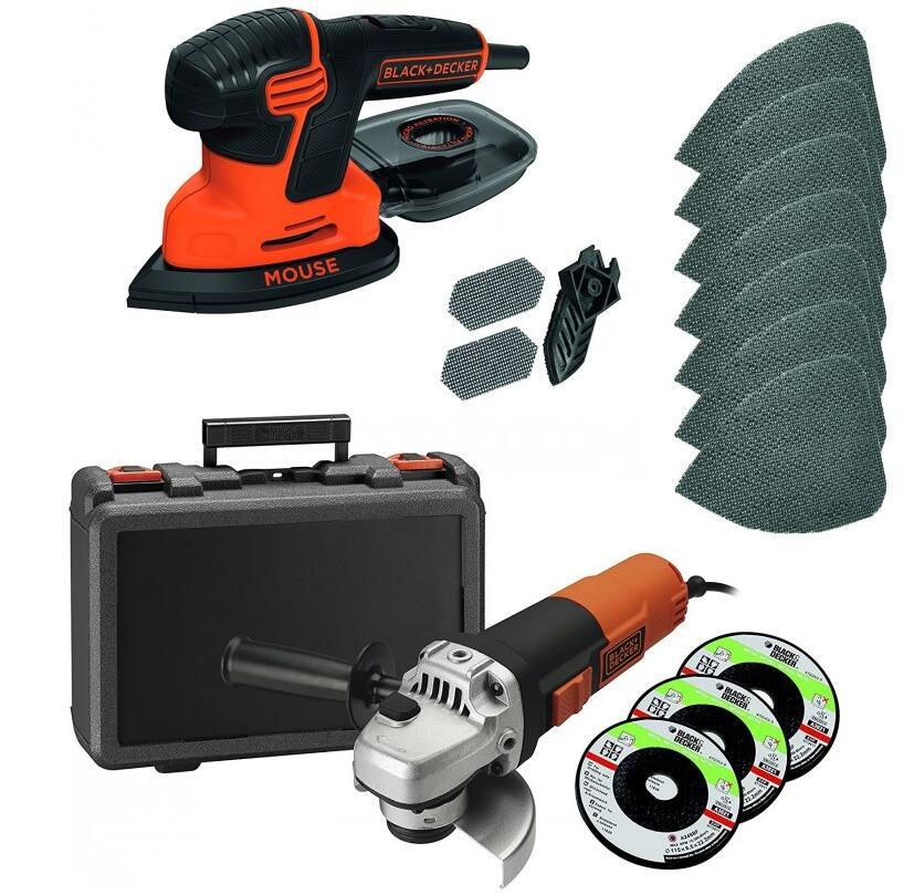 Amoladora Black&Decker 900w por 45.9€ // Lijadora Black&Decker 10 accesorios 36.9€