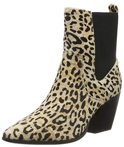 Buffalo Ferry. Botines para Mujer. Talla 37. Color Multicolor Cheetah.