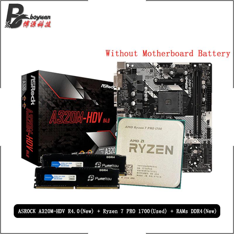 Ryzen 7 1700 + Asrock A320M + 4GB de Ram DDR4