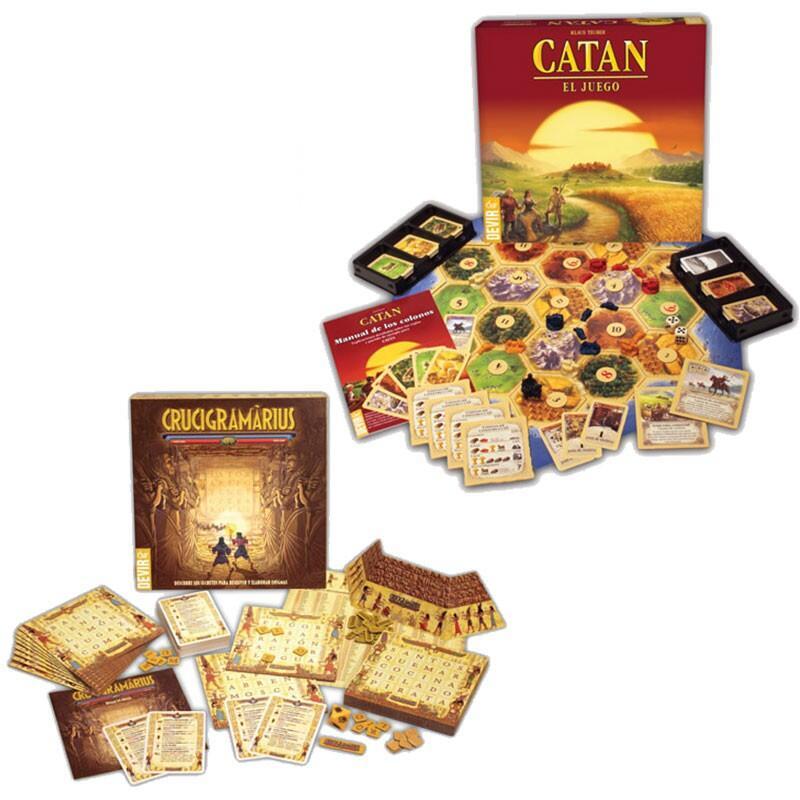Pack juegos de mesa Catan + Crucigramarius