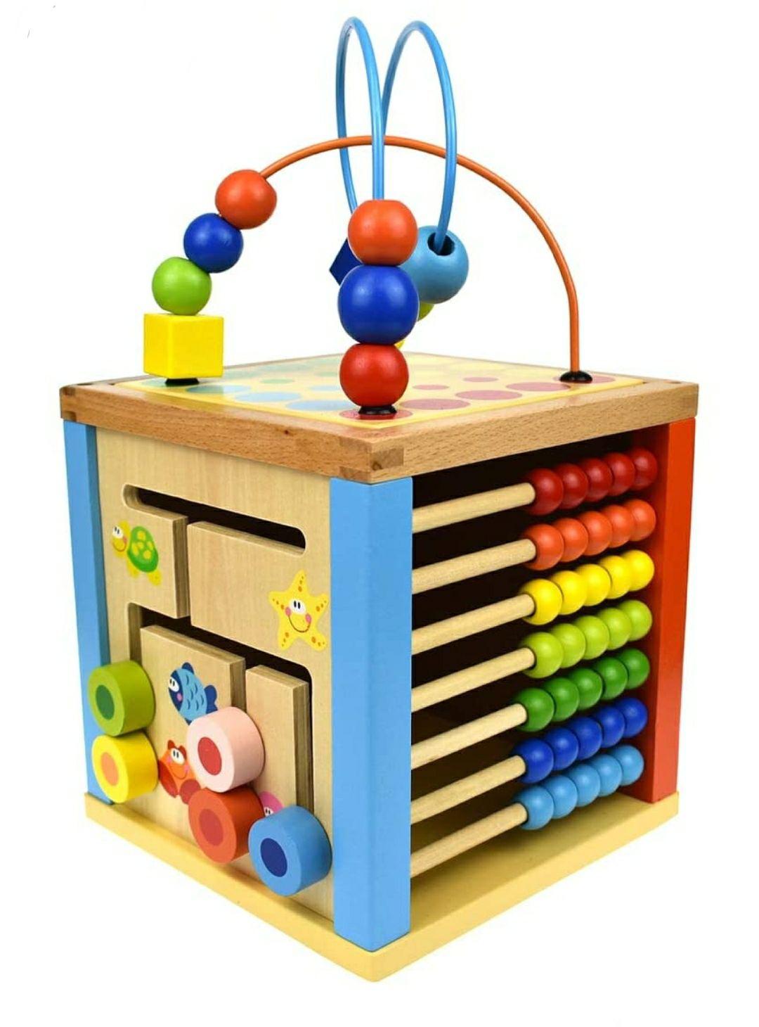 Tooky Toys TKB521 Andreu Play Cube Center, Multi Color, 19.2 x 19.2 x 19.2 cm
