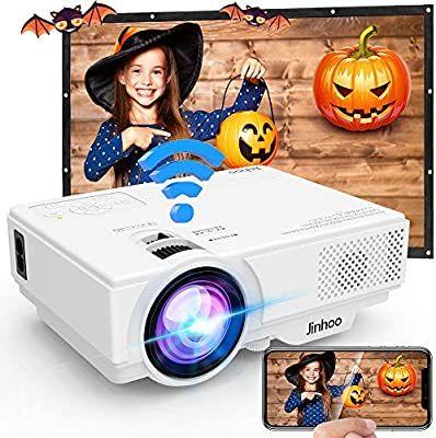 Proyector, Proyector Wifi, Mini Proyector 5500 Lúmen Soporta 1080P Full HD, Proyector Nativo 720P Compatible con TV Stick