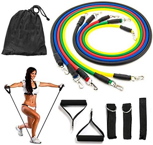 11 Piezas Bandas Elasticas Fitness Musculacion