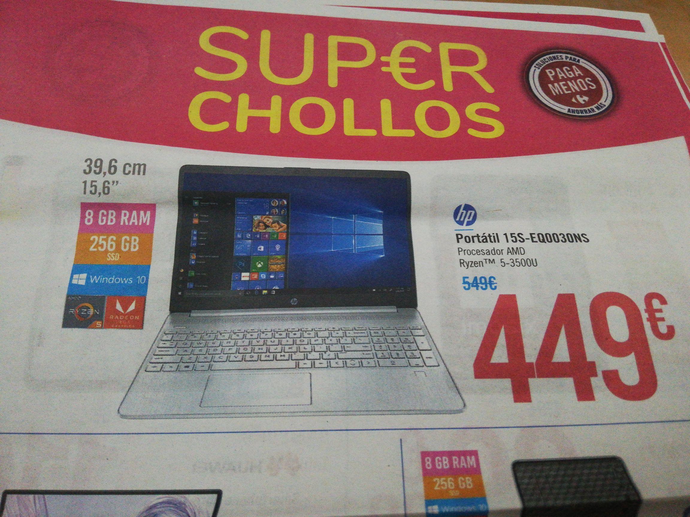 Portátil HP ryzen 5 3500u HP 15S-EQ0030NS