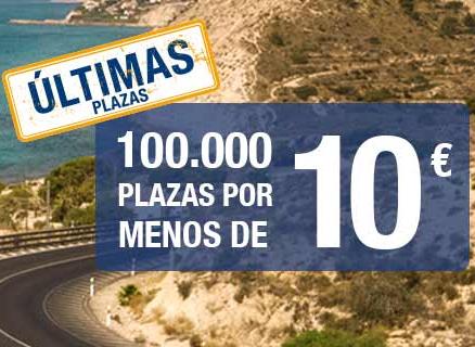 100.000 plazas por menos de 10€ - Alsa