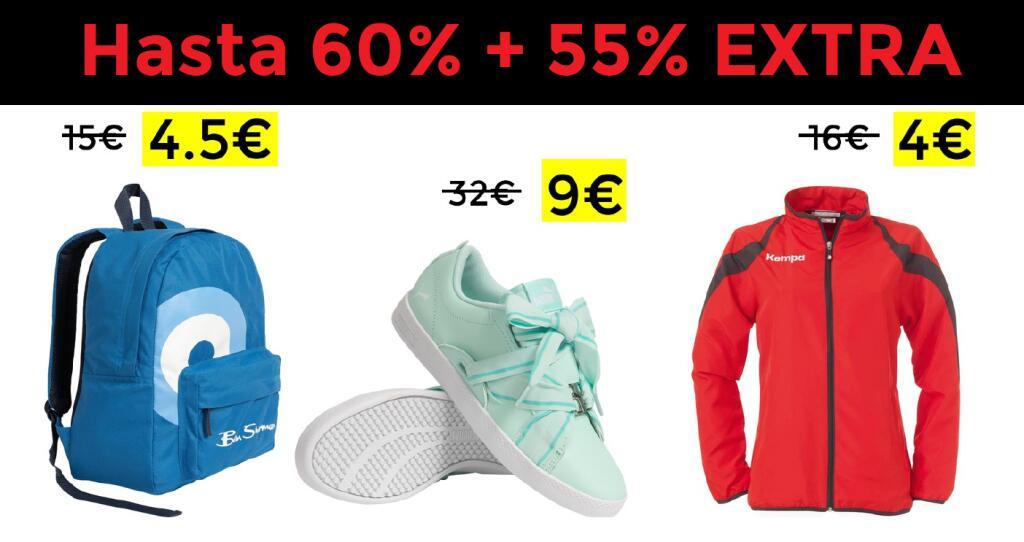 Hasta 60% + 55% EXTRA en Deporte-Outlet (66% miembros del DealClub)