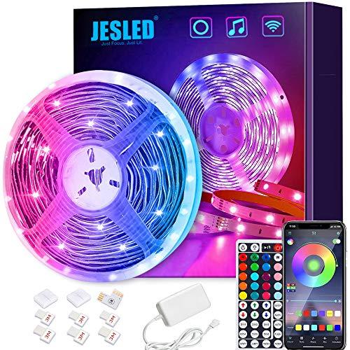 Tiras LED Wifi, JESLED 5M Tira de LED RGB Compatible con Alexa, Google Home, App