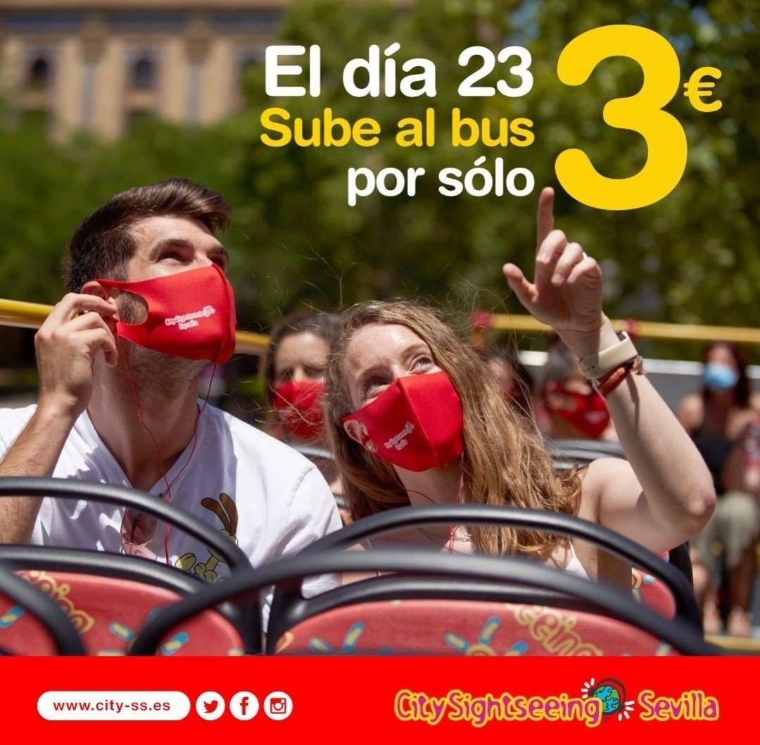 Paseo en autobús turístico por 3€ SEVILLA