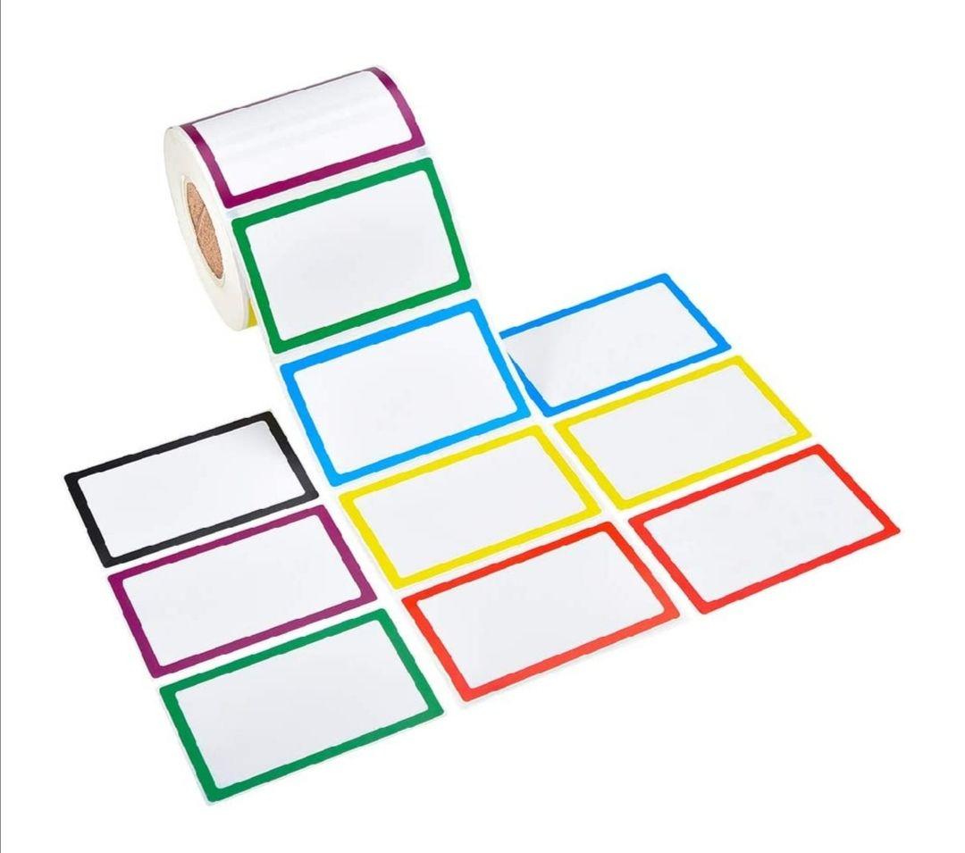 800 etiquetas adhesivas para el cole