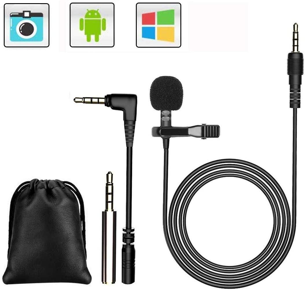 Microfono de solapa en Amazon. Muy potente.