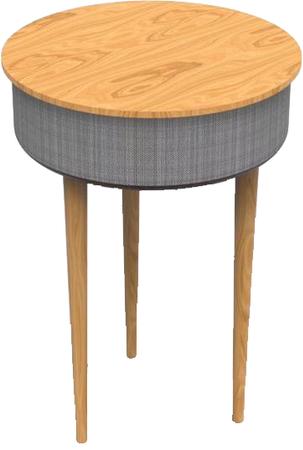 Mesa con altavoz bluetooth y carga inalámbrica