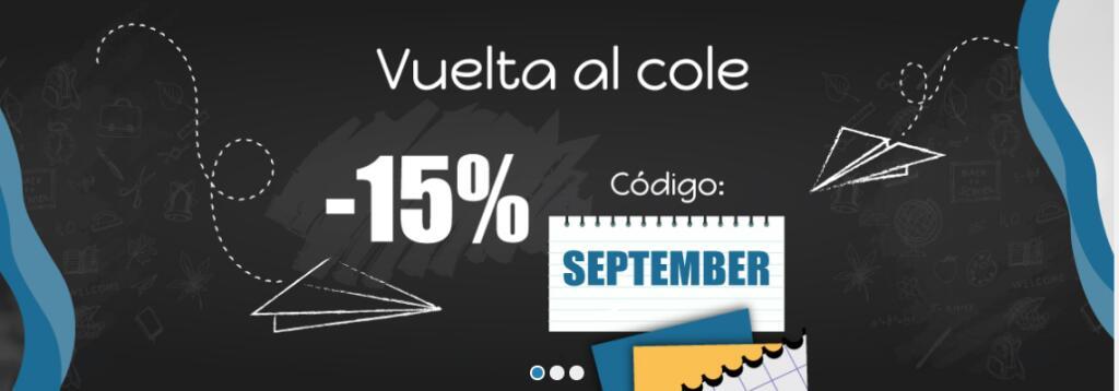 Consigue un -15% adicional en toda la web | Código: SEPTEMBER