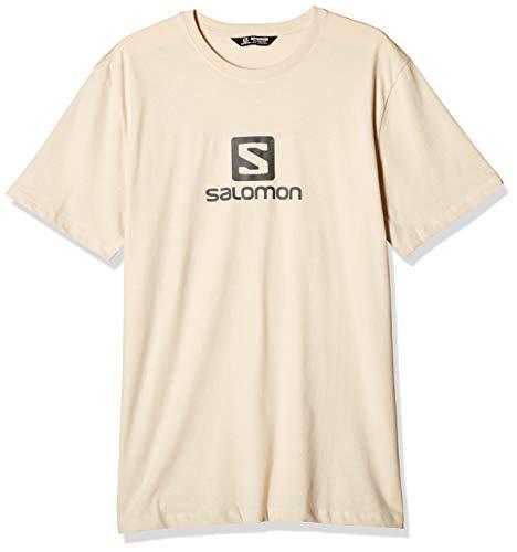 SALOMON. Camiseta Manga Corta Hombre. Talla XXL. Color beige