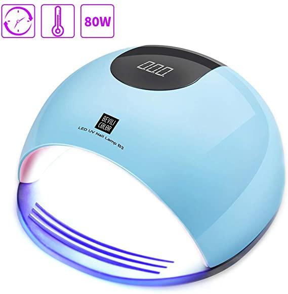 Lámpara uñas UV 80W LCD solo 8.3€