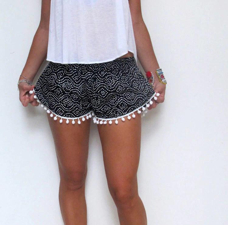 Pantalones cortos informales de verano de cintura alta para mujer
