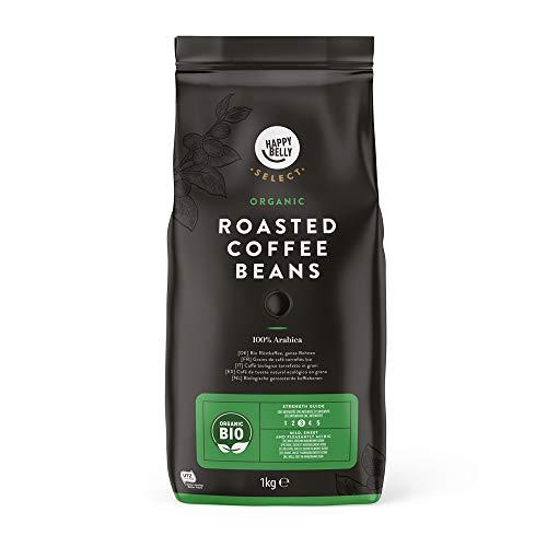 Happy Belly Select Café de tueste natural ecológico en grano - certificado UTZ, 2x1kg