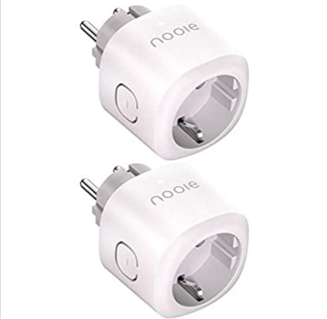 Nooie - Enchufe inteligente WiFi con mando a distancia, control por voz y temporizador,