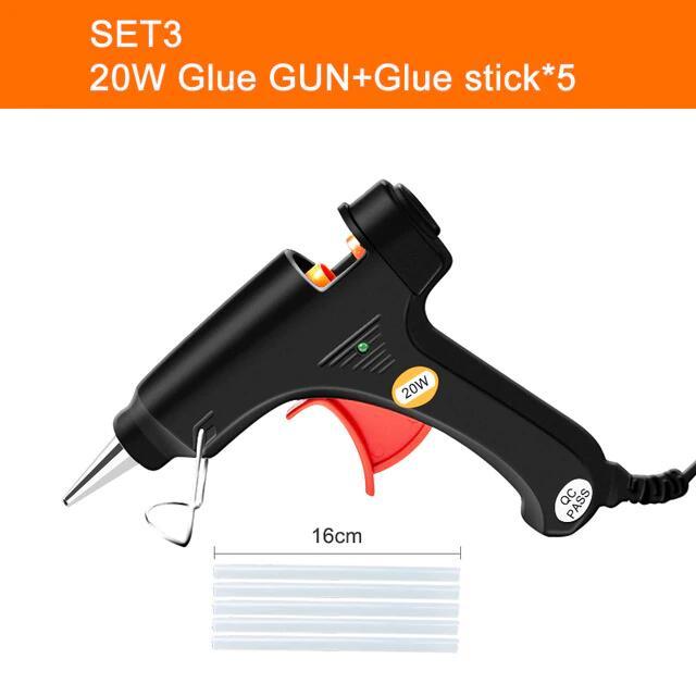 Pistola de pegamento 20W + 5 barras de silicona