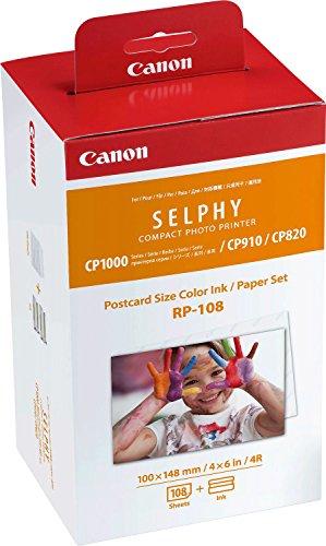 Papel fotográfico Canon RP-108 para impresoras Selphy