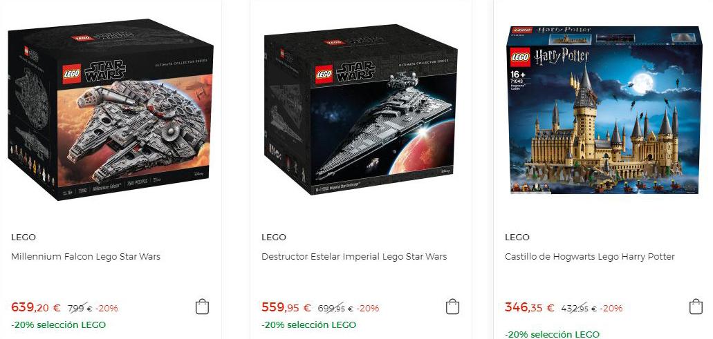 20% de descuento en sets de Lego seleccionados en El Corte Ingles + 10% en un vale para futuras compras