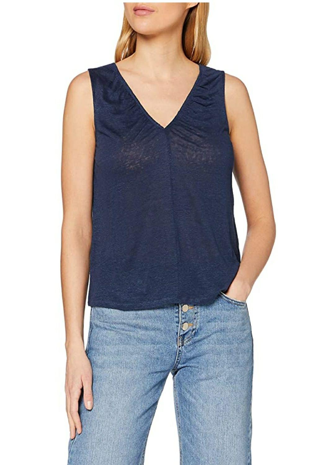 TALLA M - Mexx Camiseta sin Mangas para Mujer. Color azul