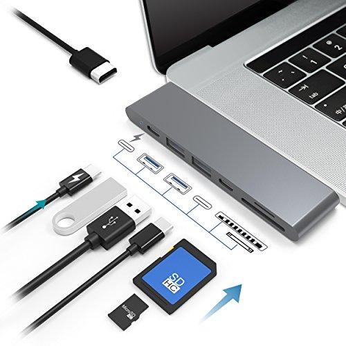 Hub USB 7 en 1 Macbook pro 2016/2017