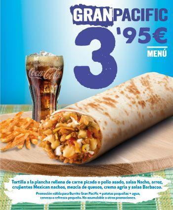 Menú Gran Pacific 3.95€ Taco Bell