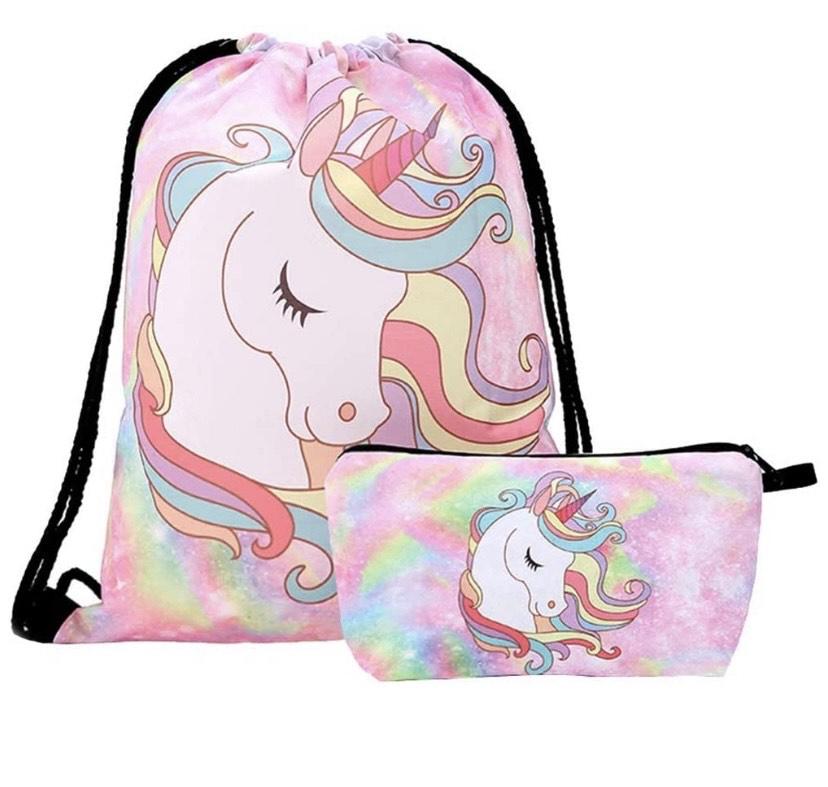Bolsa más bolsita de unicornio