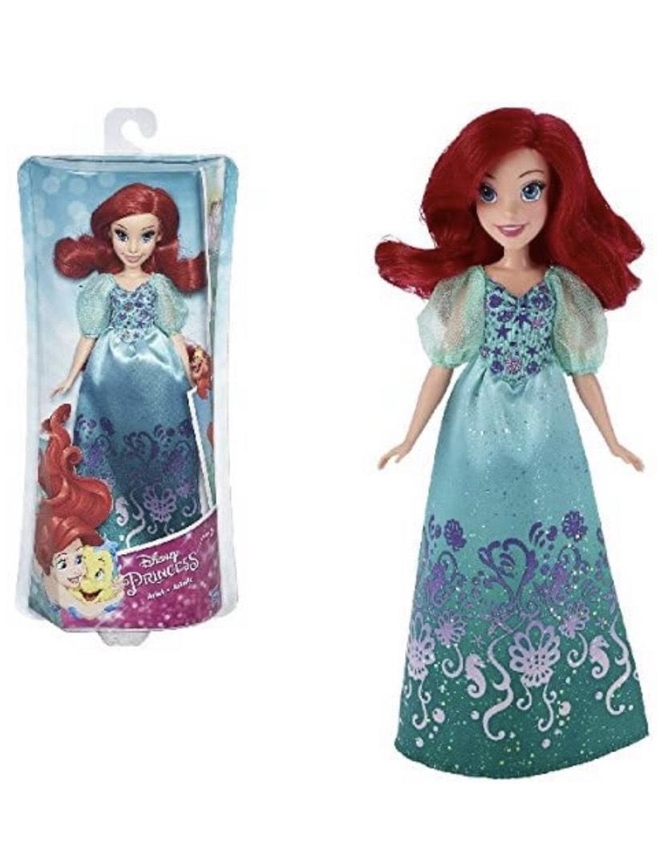 Disney Princess- Ariel Muñeca, Color Verde y Rojo (Hasbro