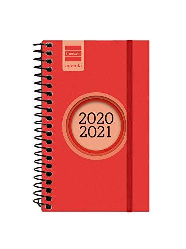 Finocam - Agenda Curso 2020-2021 E3, 79 x 127 Semana Vista Apaisada Espir Label, Rojo, Español