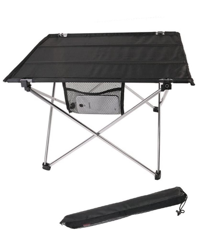 Mesa de Camping Plegable Ultra-Ligera, aleación de Aluminio, portátil