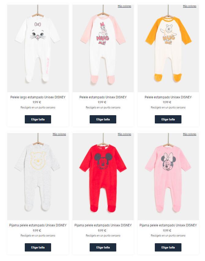 Comprando 2 Pijamas Bebé DISNEY descuento de 9€