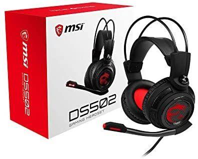 MSI DS502. Auriculares Gaming con Micrófono, Sonido 7.1, Banda de sujeción, USB.