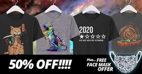 Camisetas frikis 50%