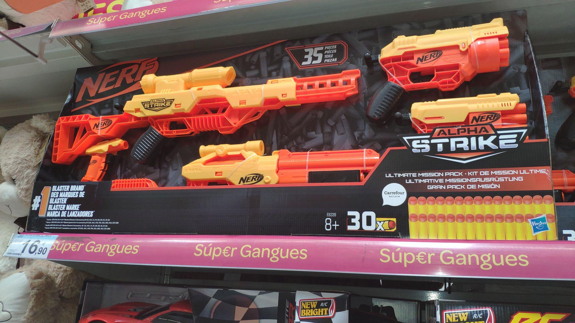 Pack pistola nerf en el carrefour de Girona