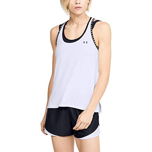 Under Armour UA Knockout Tank, camiseta de tirantes, camiseta deportiva para mujer . Talla L. Blanco.