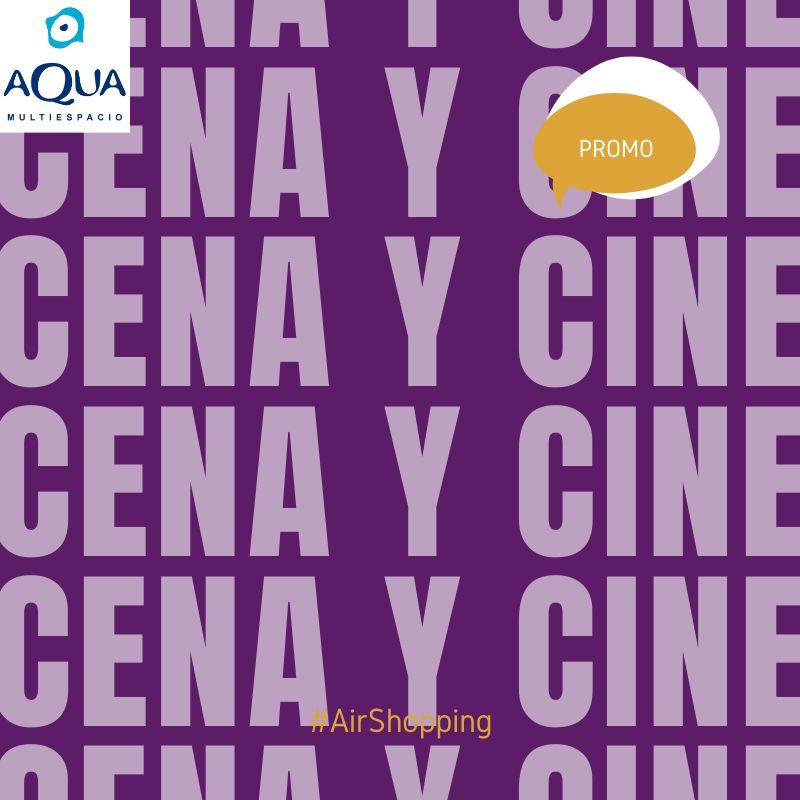 Entrada de cine gratis por consumición en Aqua (valencia)