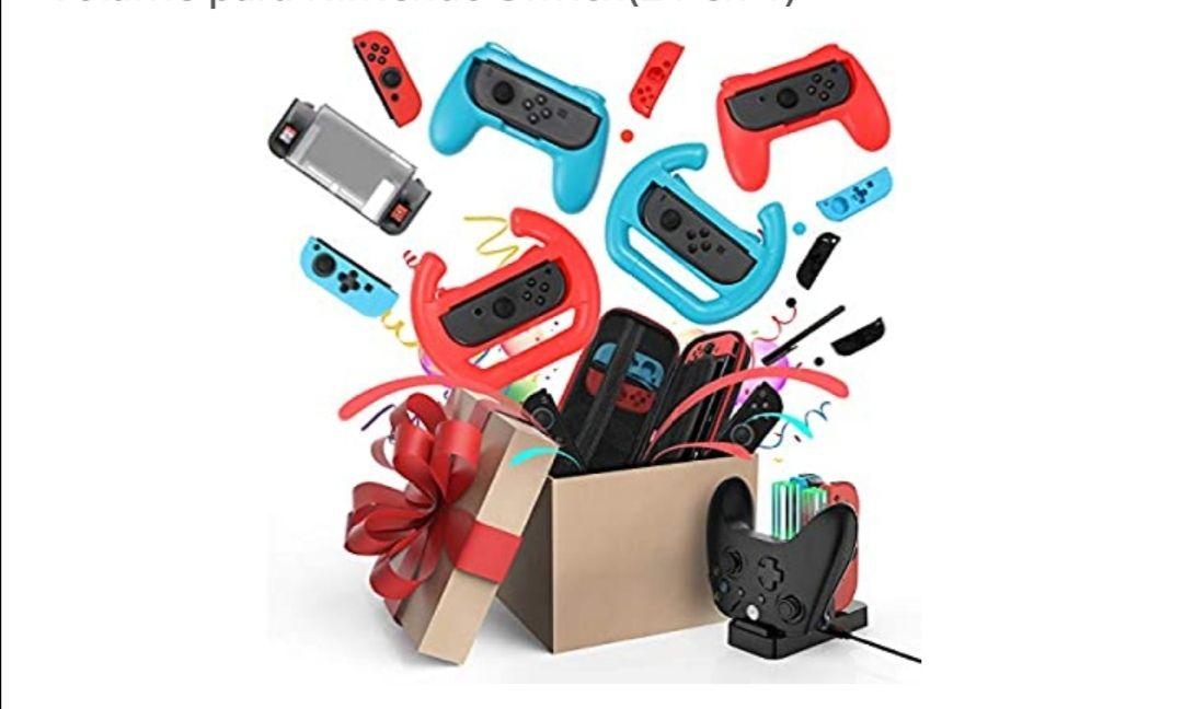 Kit de 21 accesorios para Nintendo Switch