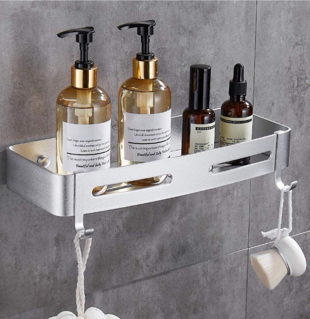 Estante de baño, Organizador de pared para cocina,Instalación sin taladro (Precio Mínimo)