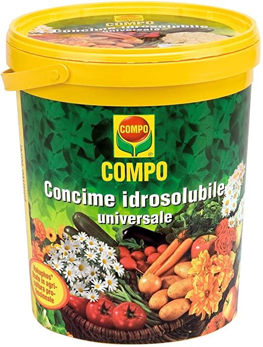 Abono hidrosoluble Universal Plantas del huerto, balcón y jardín 1,2 kg