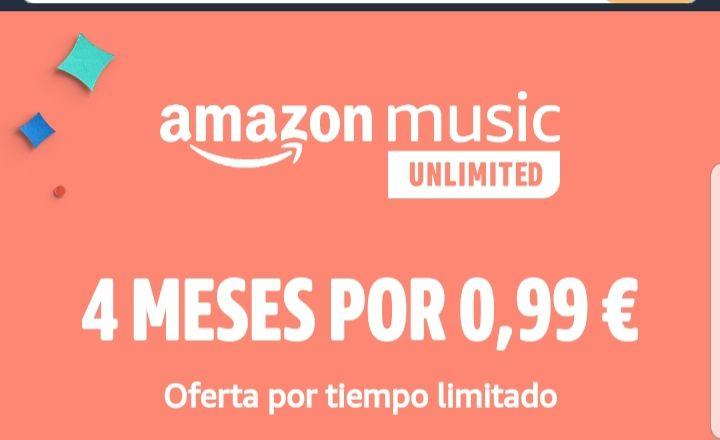 4 meses de Amazon music unlimited por 0,99€