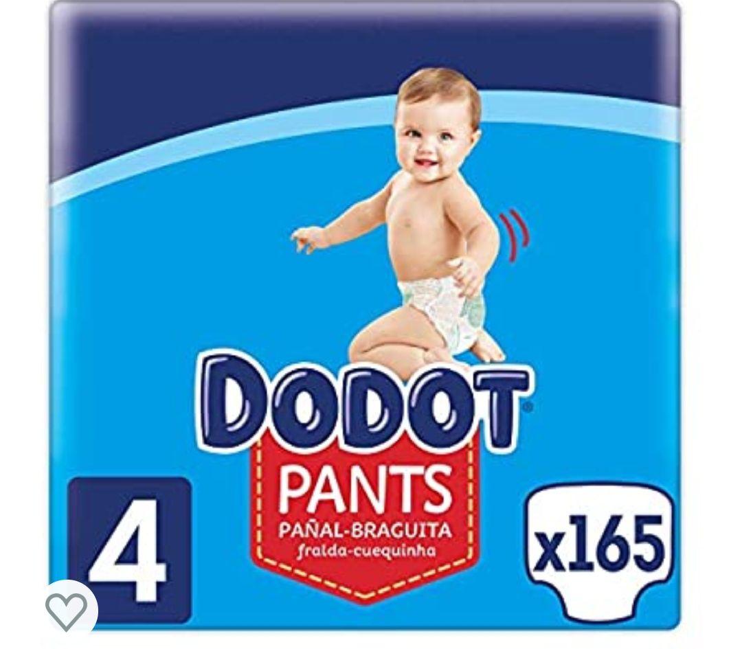 165 unidades (sólo 0,20€ ud) Dodot Pants Pañal - Braguita Talla 4, 9 kg - 15 kg, Pañal - Braguita Con Ajuste 360° Anti-fugas