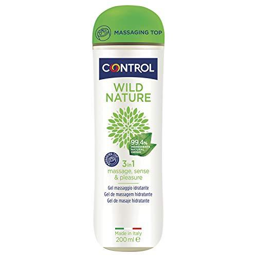 Control Wild Nature 3 en 1 - Gel de masaje corporal con aroma a té negro - 200 ml