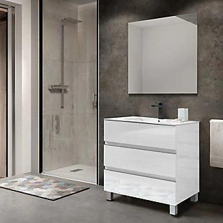 Conjunto de mueble de baño COMORO 80 de color blanco